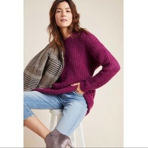 Anthropologie Camila Sweater in Violet